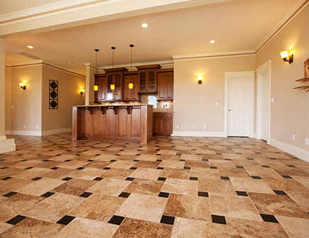 Experience The Crisp Cool Beauty Of Tile And Stone Durable Distinctive Practical Floor Goes From Textured Rustic To Smooth